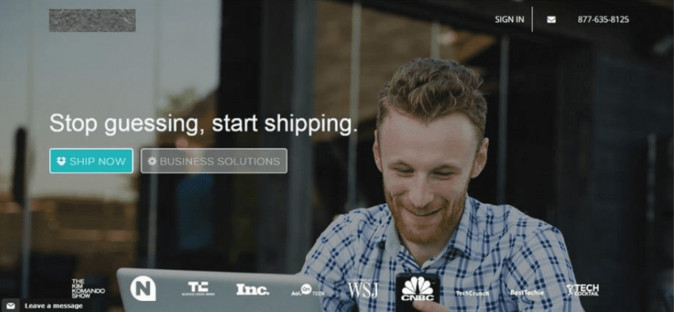 Web-based Shipment App Image 1