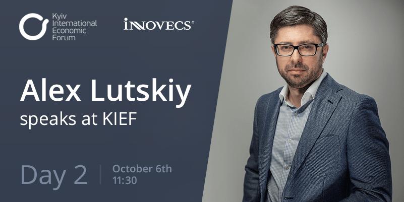 kiof Alex Lutskiy speaks at KIEF