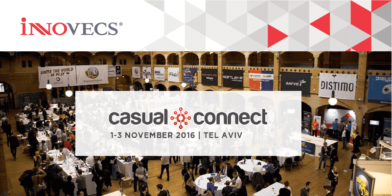 Innovecs will participate in the Casual Connect Tel Aviv Conference 2016