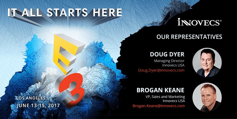 Doug Dyer and Brogan Keane will represent Innovecs at E3