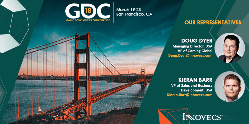 Doug Dyer and Kieran Barr at GDC 2018
