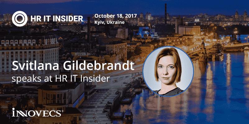 Svitlana Gildebrandt speaks at HR IT Insider