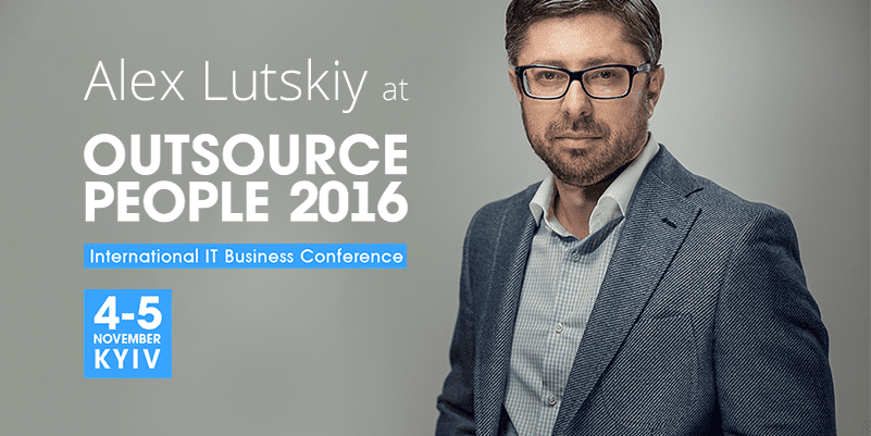 Alex Lutskiy Co-founder and CEO of Innovecs took floor at the Outsource People Conference 2016