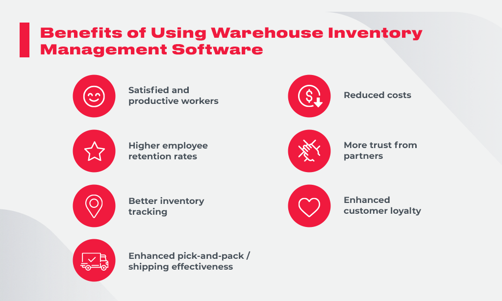 benefits warehouse inventory software